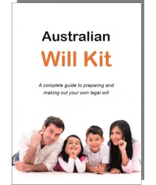 Australian Will Kit - for 1 person - 50% OFF